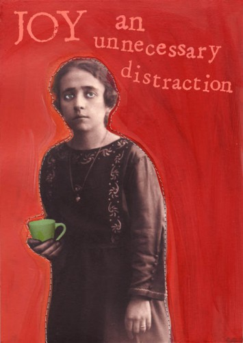 Sad-looking-young-woman-holding-teacup