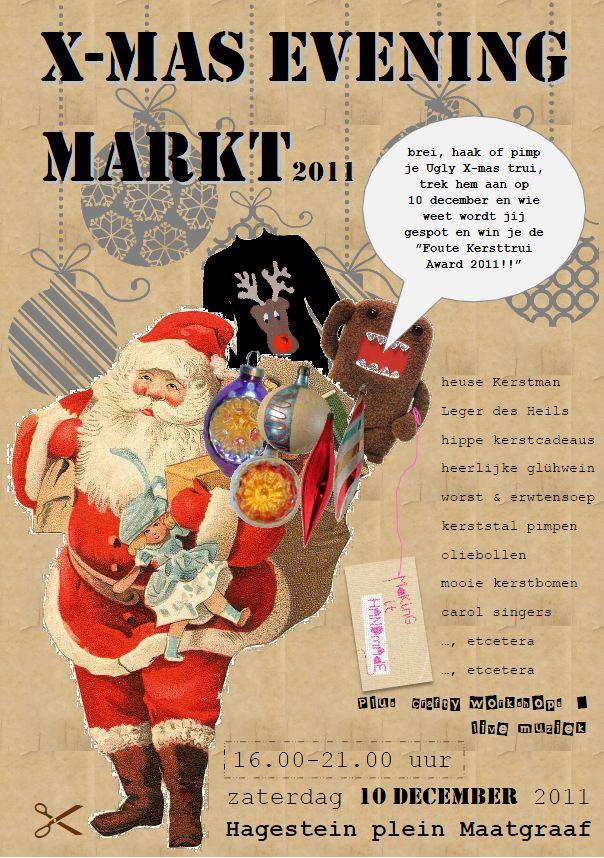 X-mas evening markt poster